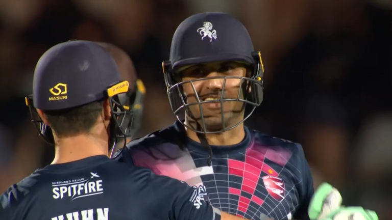 Vitality Blast: Mohammad Nabi keeps Kent perfect in victory over rivals Surrey