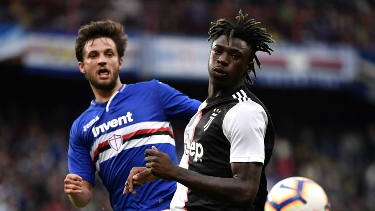 Juventus' Moise Kean has emerged as a transfer target for Everton this summer