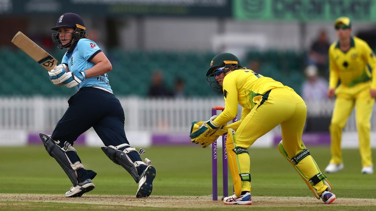 Nat Sciver was one of four players to be dismissed for a duck