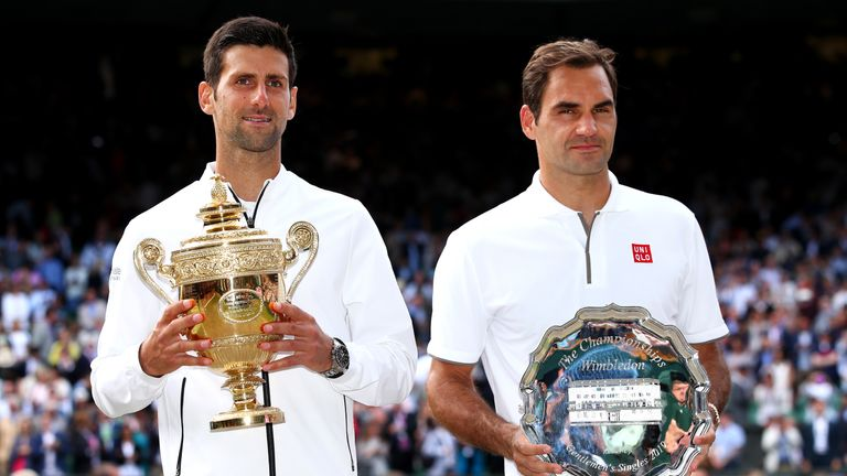 Djokovic has defeated Roger Federer in the three Wimbledon finals he has played against the Swiss