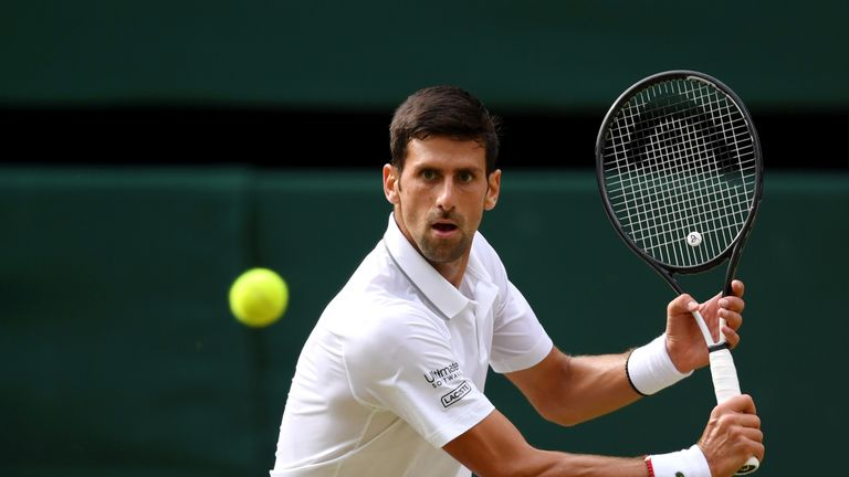 Novak Djokovic felt opponent Roger Federer dictated the play in the Wimbledon final