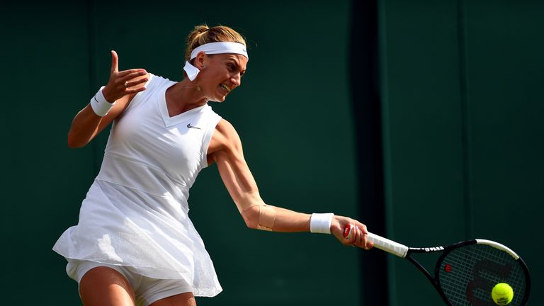 Petra Kvitova is looking to win a third Wimbledon title