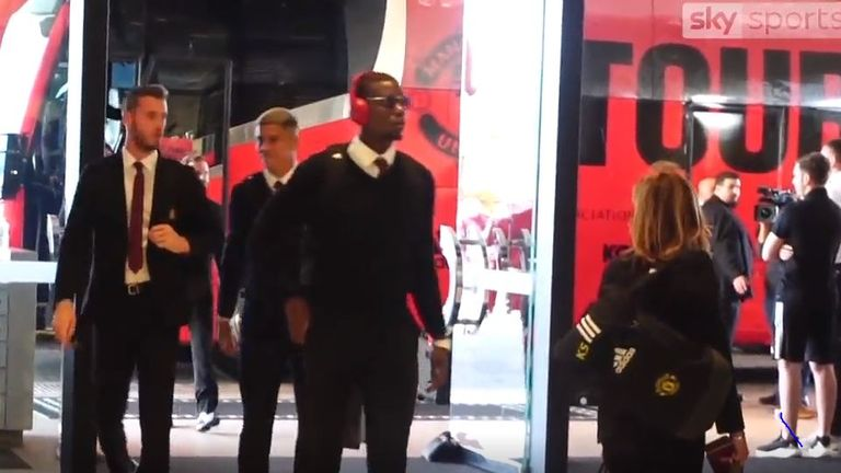 Pogba and the United squad will face Perth Glory and Leeds in Australia