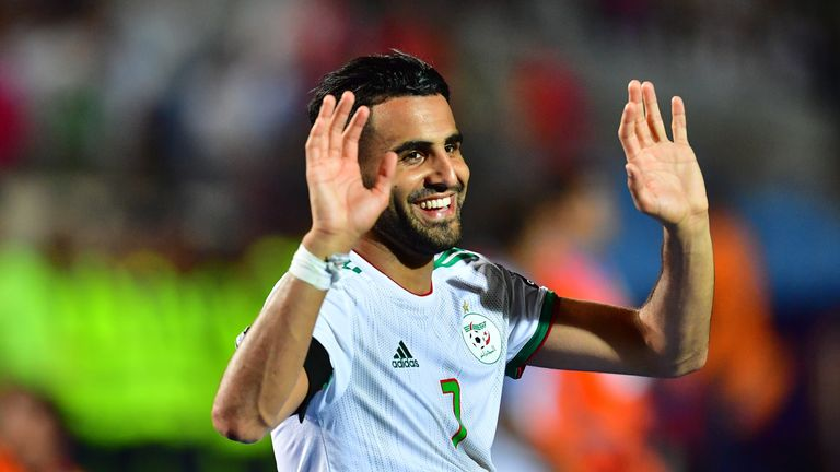 Man City's Riyad Mahrez captained Algeria to their Africa Cup of Nations victory