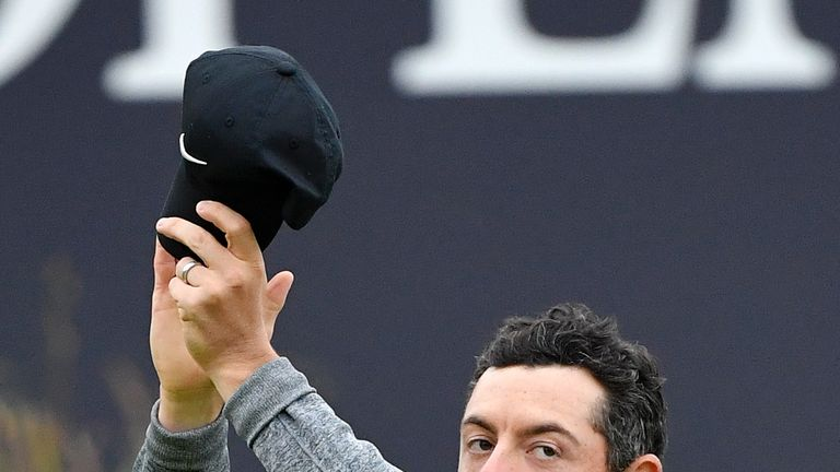 Rory McIlroy thanked the crowd for their support as The Open returned to Northern Ireland after a 68-year wait