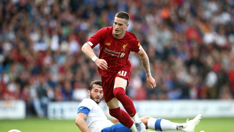 Ryan Kent in action for Liverpool