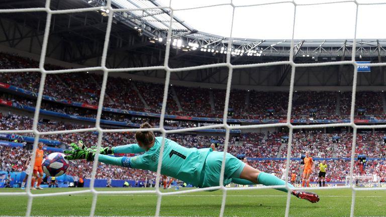 Sari Van Veenendaal was in inspired form in the Holland goal