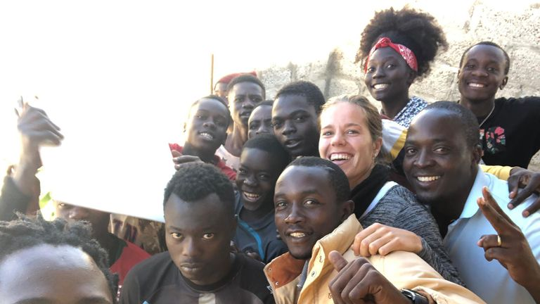 Juventus' Sofie Junge Pedersen on a trip to Zambia with Common Goal