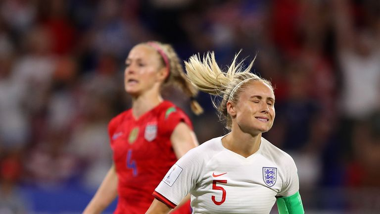 Steph Houghton missed a late penalty for England