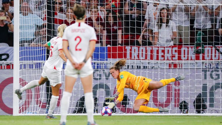 Houghton's miss was England's third from the spot during this tournament