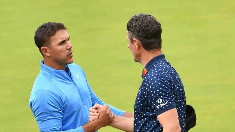 Brooks Koepka and Justin Rose were paired together in the third round of The Open