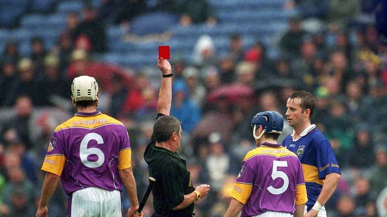 Brian O'Meara and Liam Dunne were given their marching orders