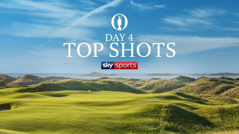 A selection of the best shots from the fourth and final round of The Open Championship at Royal Portrush Golf Club