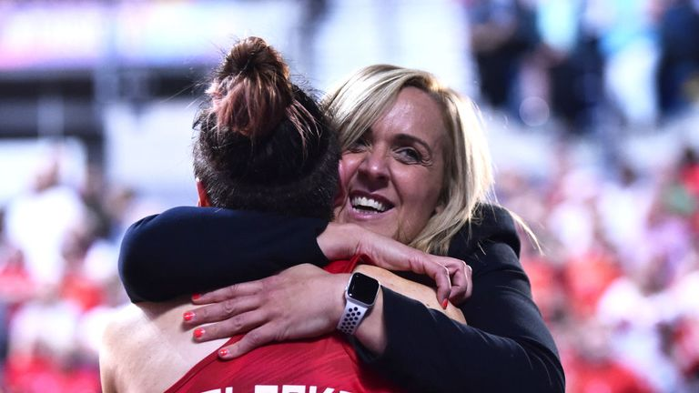 Tracey Neville's relationship with her squad is an incredibly close one