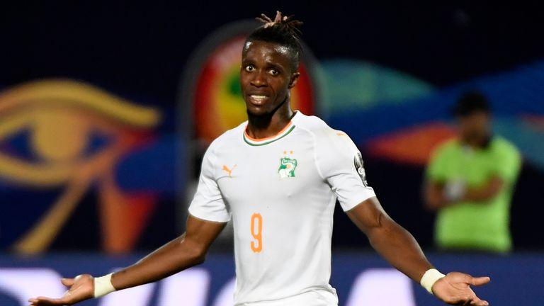 Wilfried Zaha scored in Ivory Coast's 4-1 win on Monday