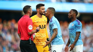 Gabriel Jesus had his goal disallowed for handball in the last minutes of the game