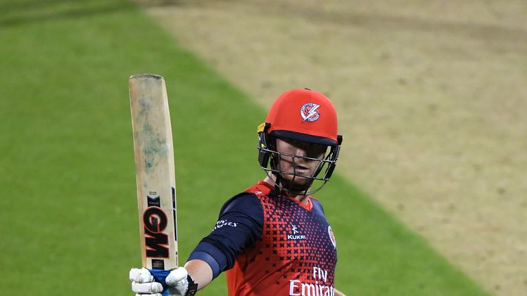 Alex Davies top scored with 80 not out for Lancashire