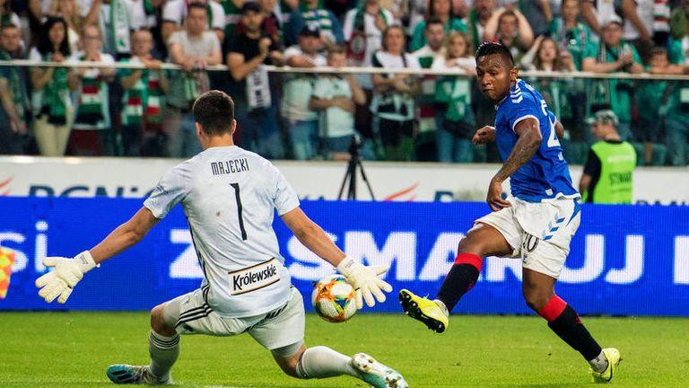 Alfredo Morelos was denied a goal in Warsaw