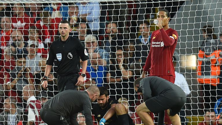 Alisson needed medical attention before being substituted