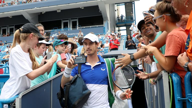 Murray recorded his return to a competitive singles court