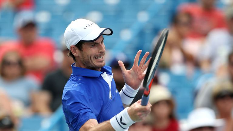 Andy Murray made his return to singles action for the first time since surgery on January, 28