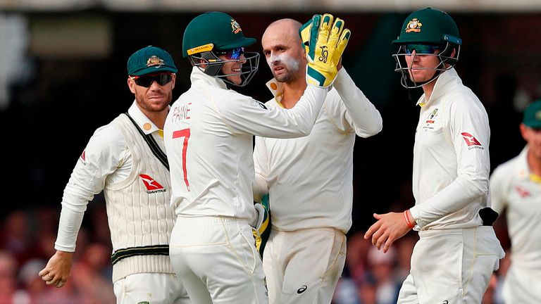 Nathan Lyon took 3-68 in England's first innings