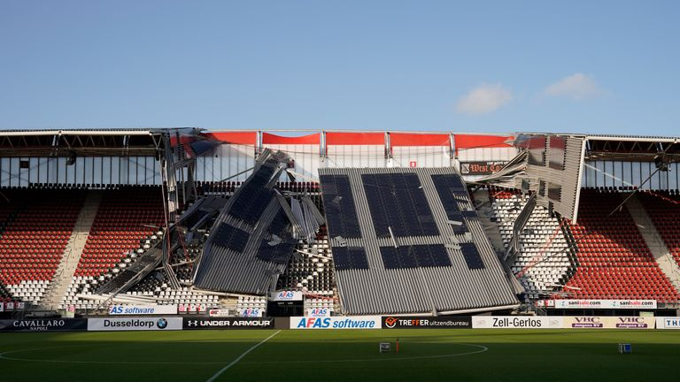 Image result for images of AZ Alkmaar stadium roof collapse