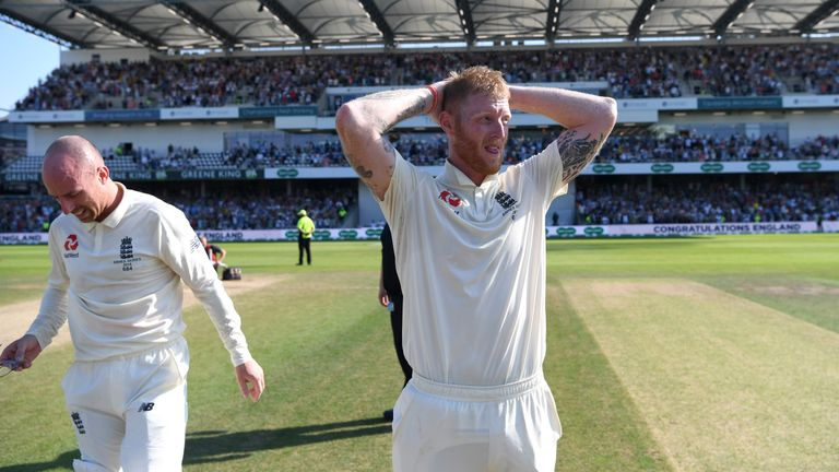 Stokes can barely believe what he's just done after pulling off the most remarkable win at Headingley