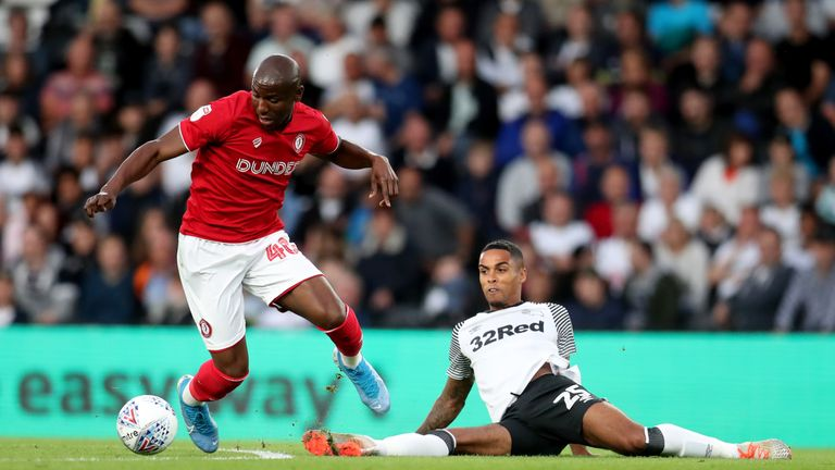 Benik Afobe has scored three goals for Bristol City this term