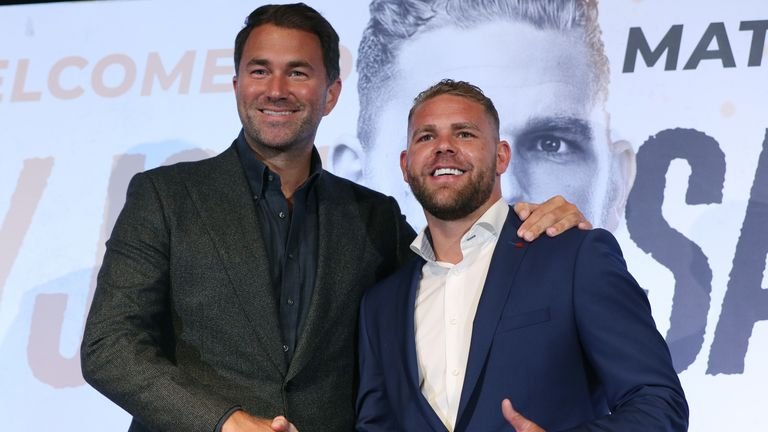 Saunders signed with Eddie Hearn and Matchroom in August