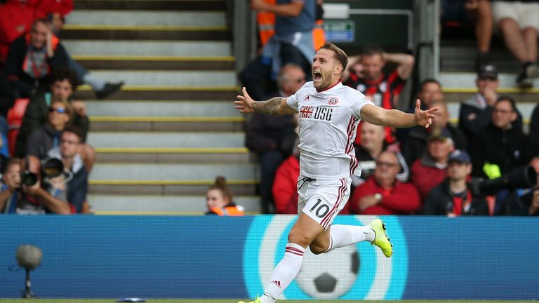 Billy Sharp could start for the Blades this weekend after his second-half equaliser at the Vitality Stadium