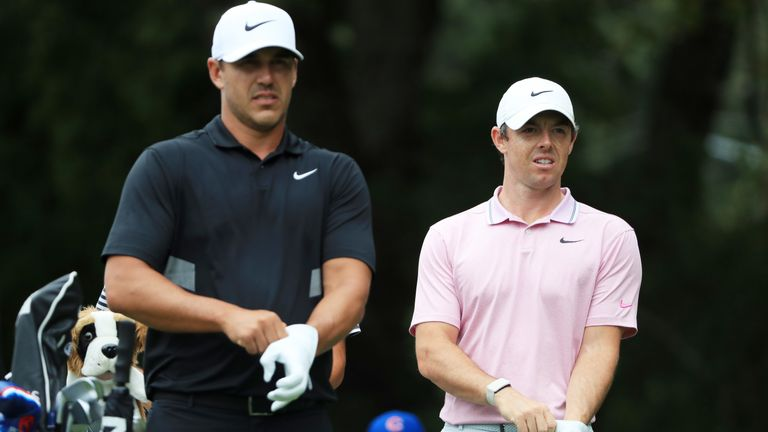 Brooks Koepka started the final round with a one-shot lead