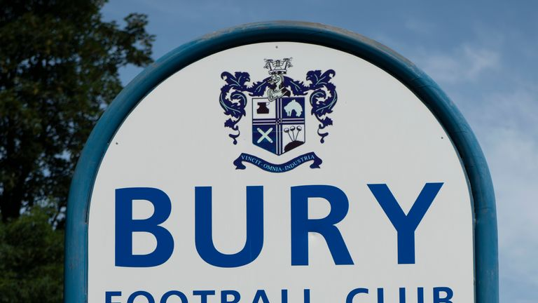 Bury could be thrown out of the Football League by the end of the week