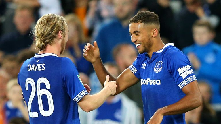 Calvert-Lewin and Tom Davies are best friends at Everton
