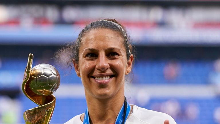 Women's World Cup winner Carli Lloyd will also speak at the UN General Assembly