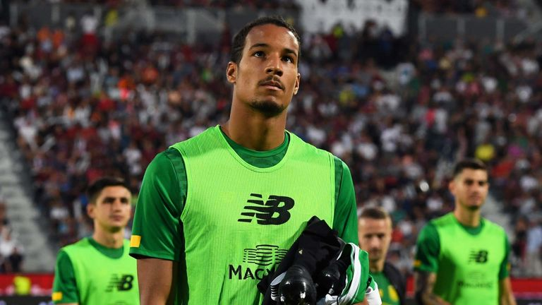 Summer signing Christopher Jullien was left on the bench against Cluj