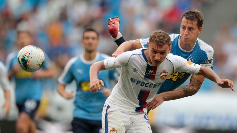 CSKA Moscow have rejected Crystal Palace's £14m bid for Fedor Chalov