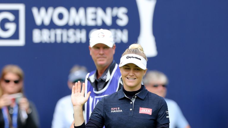 Charley Hull had excellent backing at her home club