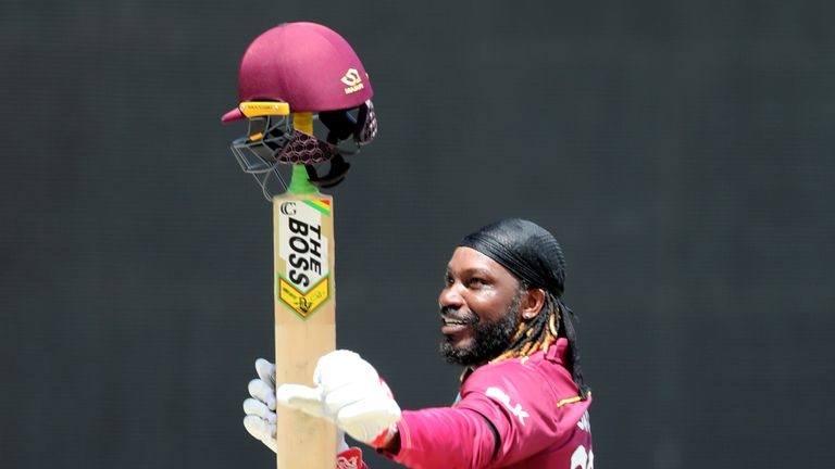 Chris Gayle scored his 54th ODI half-century