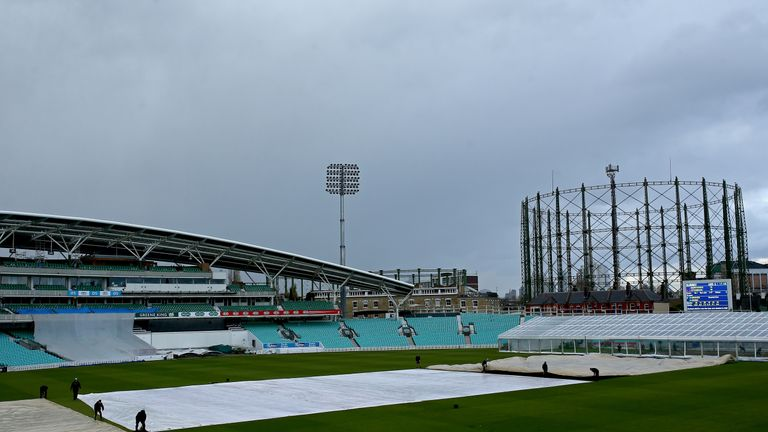 Rain ruled out any play at The Oval