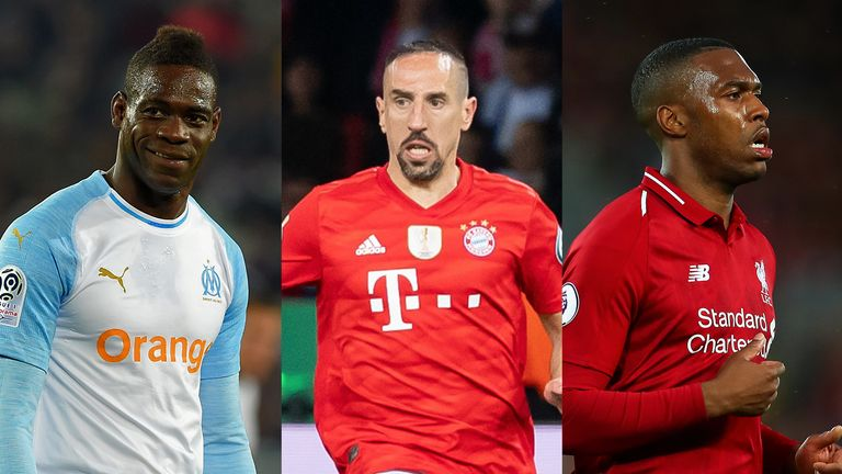 Mario Balotelli, Franck Ribery and Daniel Sturridge are still on the look-out for new clubs