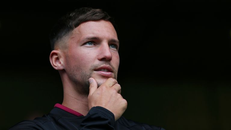 Danny Drinkwater was in the stands for Burnley's win over Southampton