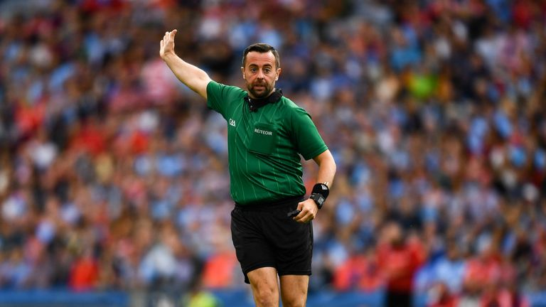 Gough refereed the Dubs earlier this year in their Super 8s clash with Cork