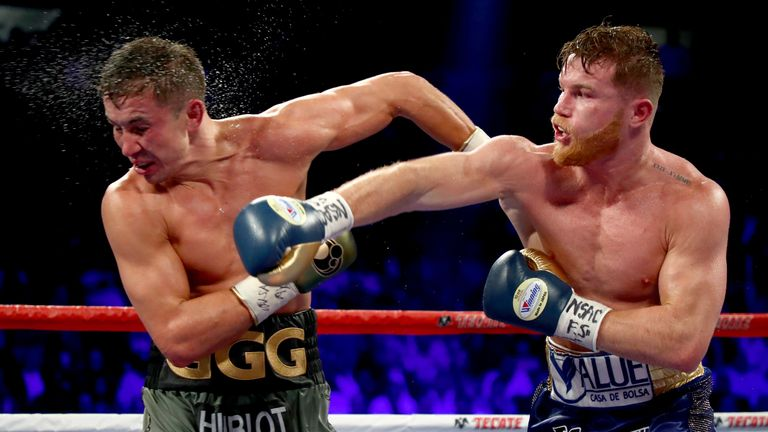Canelo (R) and Golovkin have fought twice