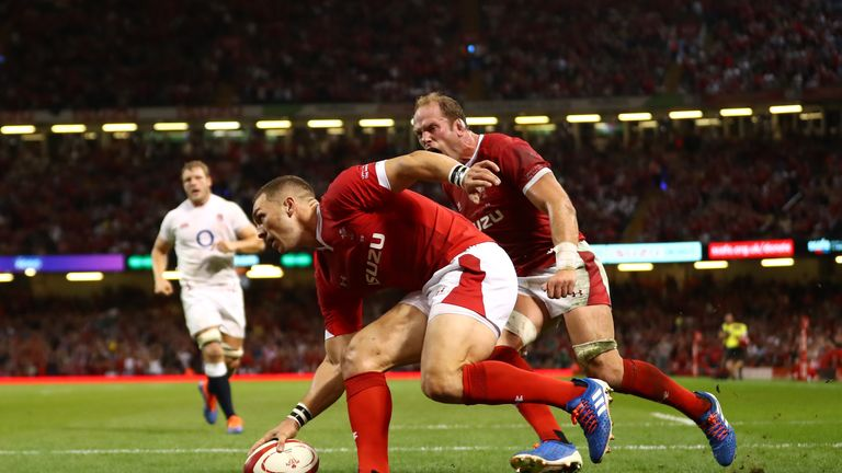 North scored his 38th international try to catch England off-guard in Cardiff