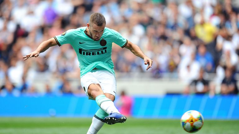 George Puscas in action for Inter Milan in the International Champions Cup