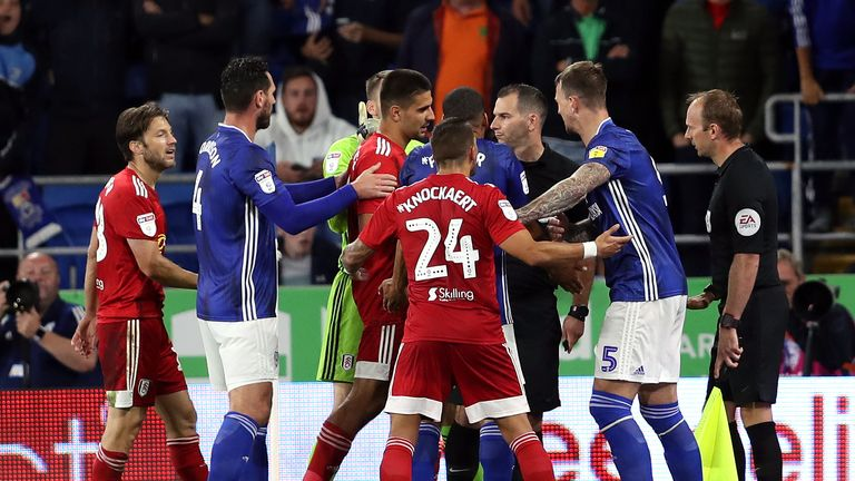 Cardiff 1-1 Fulham: Harry Arter sent off for simulation in draw