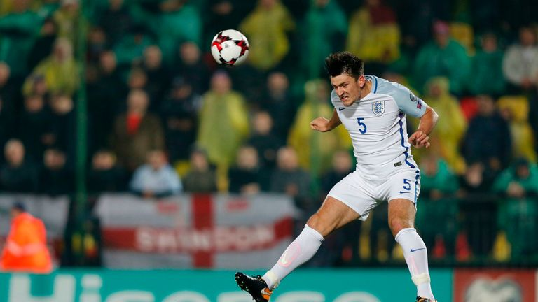Maguire made his England debut against Lithuania