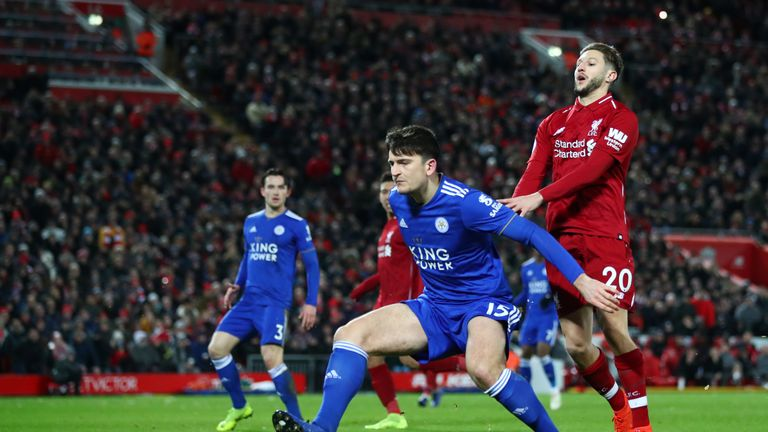 Maguire impressed at Anfield in January when Leicester held Liverpool to a draw