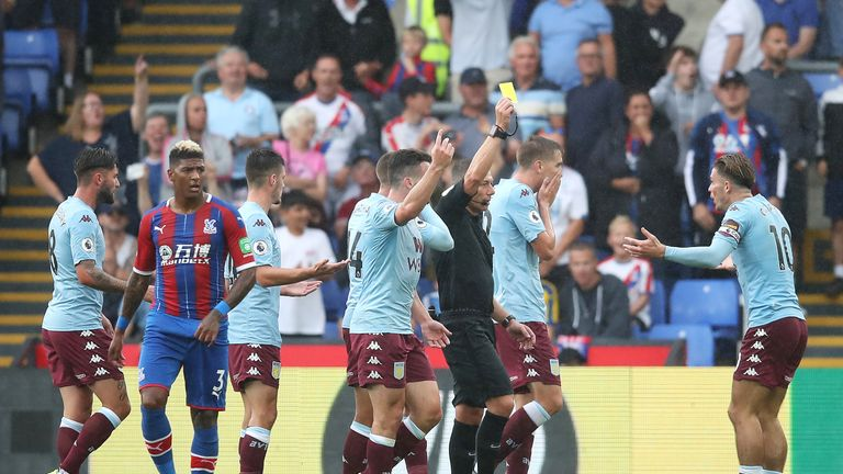 Jack Grealish was penalised for simulation late on